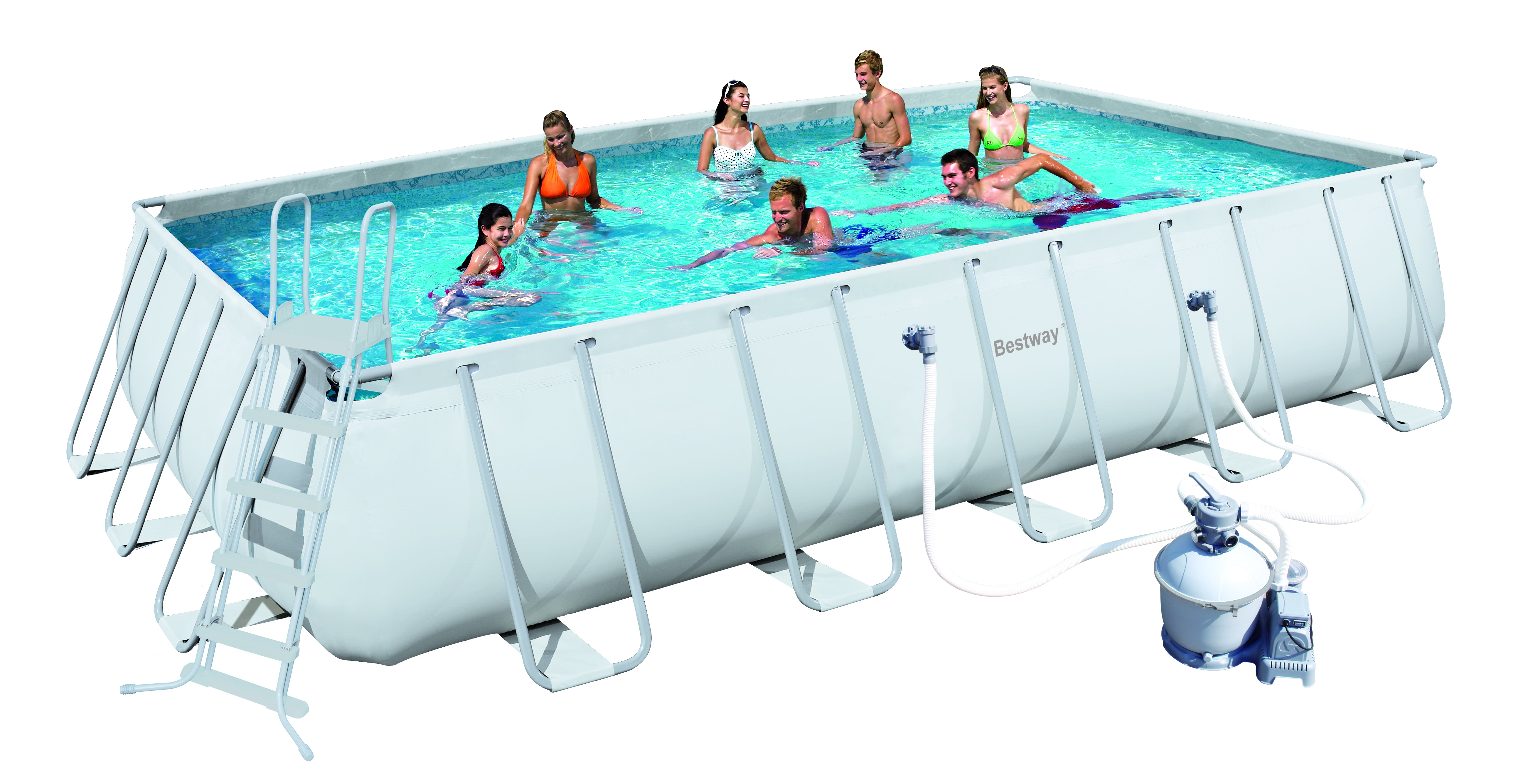 Piscina bestway ultra frame rettangolare 56257 for Bestway piscine