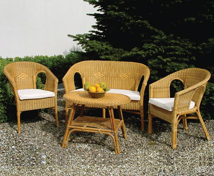 Salottino in rattan filicudi for Set completo di piani casa pdf